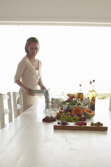 Woman preparing a meal
