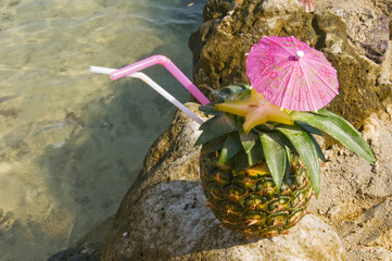 Pinacolada on beach