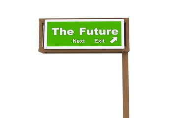 Road Sign The Future