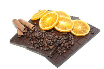 orange, chocolat, canelle et café
