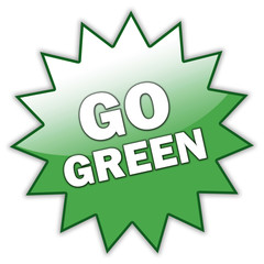 "Glossy Sticker ""Go Green"""