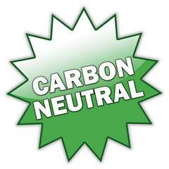 "Glossy Sticker ""Carbon Neutral"""