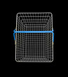 Shopping basket on black background