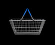 Side view of shopping basket