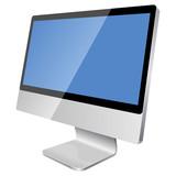 Fototapety New modern blank monitor isolated on white