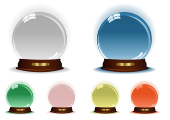 Vector illustration of collection of magic spheres
