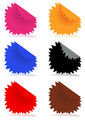 Vector illustration of glossy color stickers