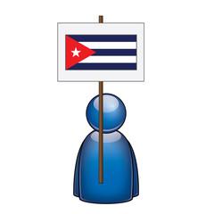 Pancarta Cuba