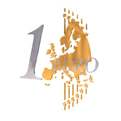 euro münz prägung 3d freigestellt