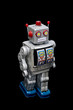 Isolated Toy robot