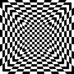 Black and white seamless tile, vector
