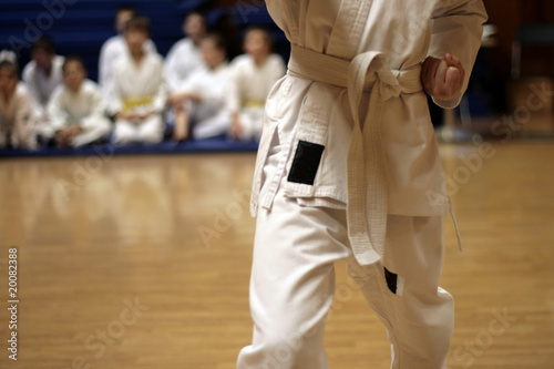 young karateka