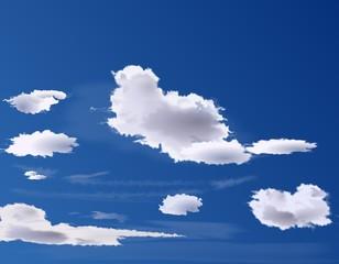 Cielo Blo con Nuvolette Sparse