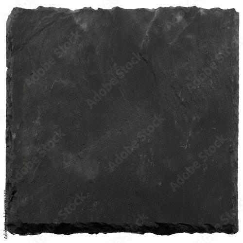 plaque carrée ardoise naturelle fond blanc