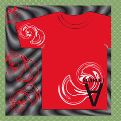 t-shirt-red-texture-pantone-color