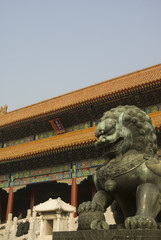 The historical Forbidden City Museum in the center of Beijing..