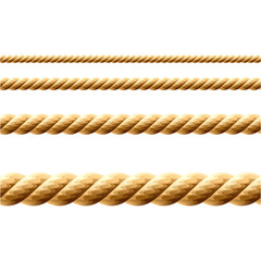 Rope. Seamless vector.