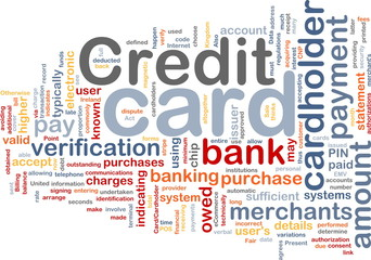 Credit card word cloud