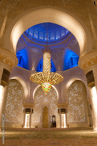Sheikh zayed mosque in Abu Dhabi, UAE, Interior