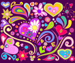Colorful love doodle