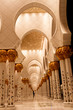 Sheikh zayed mosque in Abu Dhabi, UAE, Columns detail