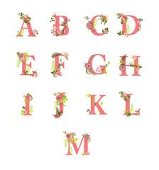 flourish alphabet letters, part1