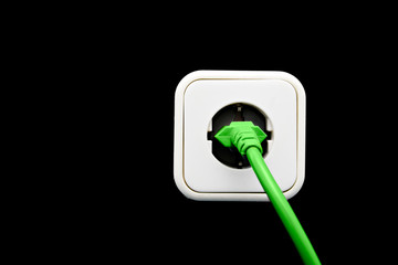 Light switch as green energy concept