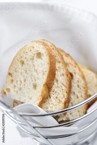 Sliced Bread in Wire Basket