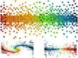 rainbow colored Pixels