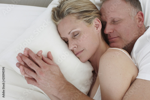 Beautiful couple sleeping