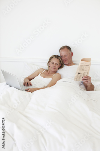 Couple relaxing