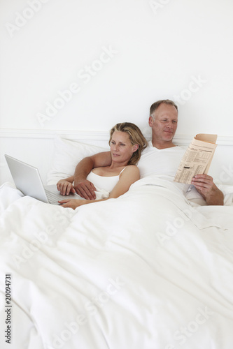 Couple in their bedroom
