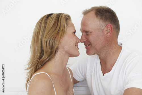 Couple having romantic time