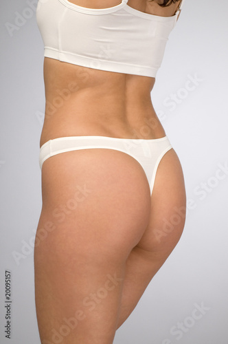 female body in white underwear