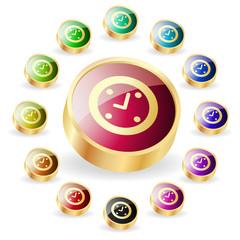 Vector clock buttons.