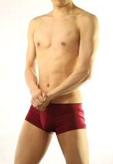 Male muscle body
