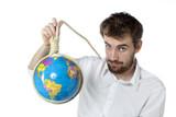 homme tuant la planète suicide pendaison poster