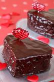 Heart shaped chocolate cakes