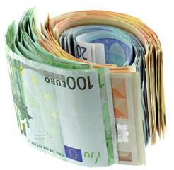 billets euros fond blanc
