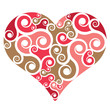 Heart shape with swirls
