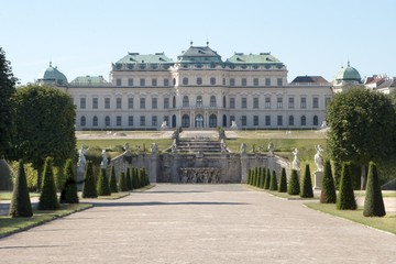 belvedere in vienna - morning