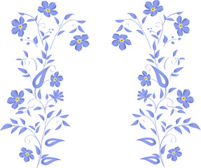 simple blue flowers design
