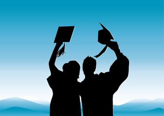 Graduation in silhouitte