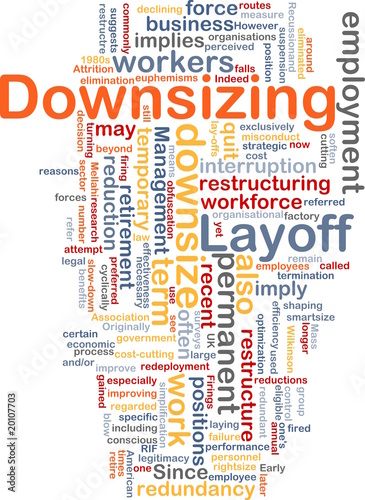 downsizing word cloud