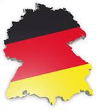 Fototapety Deutschland Karte Flagge