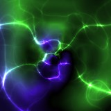 Cosmic energy glowing abstract poster