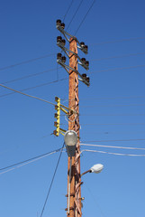 Old elctricity pole