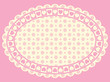 Vector Oval Heart Border with Victorian Eyelet Copy Space