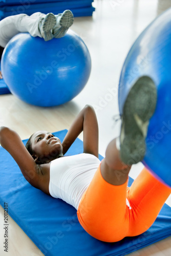Woman doing pilates