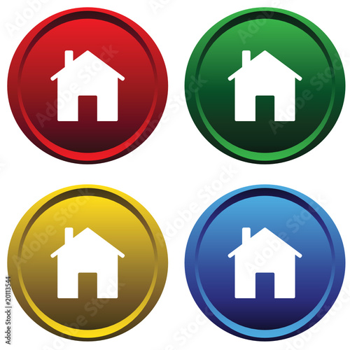 Plastic buttons with the image of the house